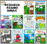 Animal Research Reading BUNDLE