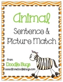 Animal Sentence to Picture Match