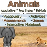 Animals: Adaptations, Food Chains & Habitats