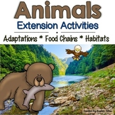 Animal Adaptations, Food Chains and Habitats- Extension Ac