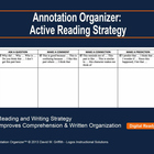 Annotation Organizer: Active Reading Strategy (Literature Focus)
