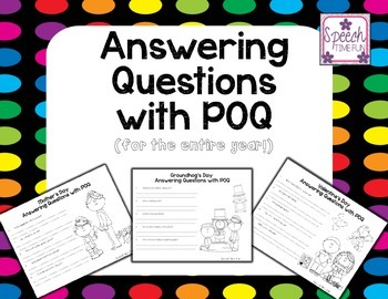 Answering Questions with POQ (for the entire year!)