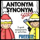 Antonym and Synonym Scoot - FREEBIE