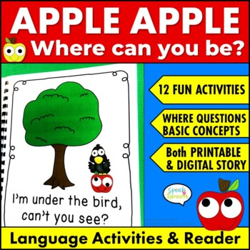 Great Activities to Fill Your Cart by Speech Sprouts-Apple, Apple Where Can You Be
