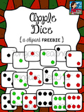 Apple Dice Clipart Freebie