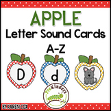 Apple Letter Sound Matching Cards A-Z