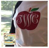 Apple Monogram Baseball Shirt {Adult LARGE}