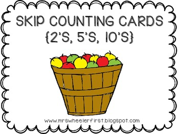 Apple Skip Count Cards