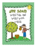 Apple Word List and Word Wall Cards