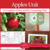 Apples Thematic Unit with Craftivity
