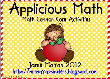 Applicious Math- Common Core Activities
