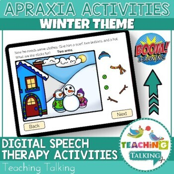 Apraxia - Interactive Apraxia Activities (Winter Snow)