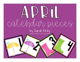April Calendar Pieces