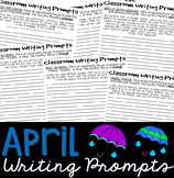 April Journal Writing Prompts Booklet: Grades 5-10 (25 pro