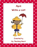 April Write a List
