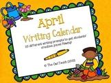 April Writing Calendar:  20 Writing Prompts