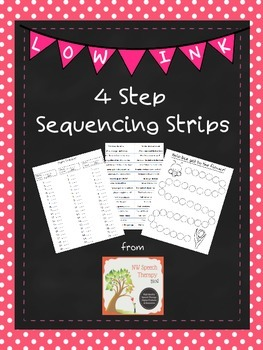 ‪#‎AprilSLPMustHave‬  4 Step Sequencing Strips