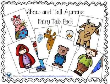 Show and Tell Apron Cards - Fairy Tale Pack