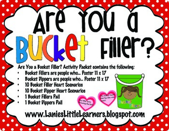 Are You a Bucket Filler?  Activity Packet {Printable}