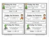 Area, Perimeter, & Volume Resource Notebook Poster