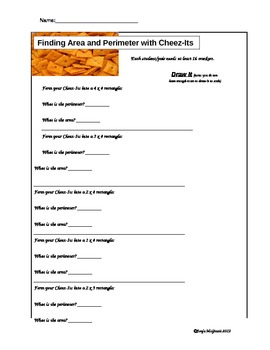 Area and Perimeter with Cheez-Its
