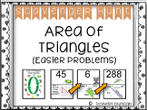 Area of Triangles Scavenger Hunt (Easier Problems)