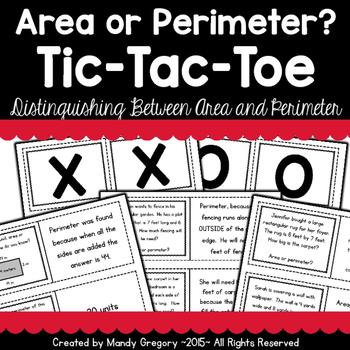 Area or Perimeter? Tic-Tac-Toe