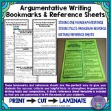 Argumentative Writing Response Bookmarks