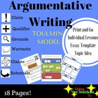 Argumentative Writing - Toulmin Model