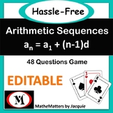 Arithmetic Sequences: 48 questions..Game, Activity {TGT}..