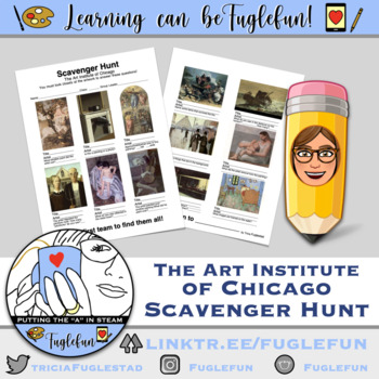 Art Museum Scavenger Hunt ~ Art Institute of Chicago ~