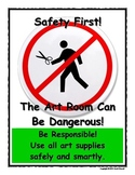 Art Room Rules Poster - Safety First