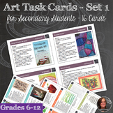 Art Task Cards for Grades 6-12