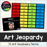 Art Vocabulary Scavenger Hunt and Jeopardy Game