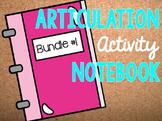 Articulation Activity Notebook Bundle #1