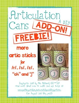 Articulation Cans Add On FREEBIE! {more sticks for /r/,/s/