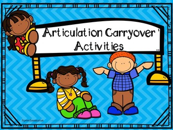 Articulation Carryover Activities!