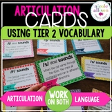 Articulation Context Clue Cards Using Tier 2 Vocabulary