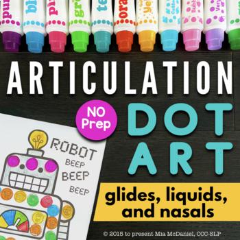 Articulation Dot Art {glides, liquids & nasals edition} No PREP!