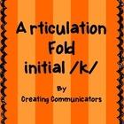 Articulation Folds - Initial /k/