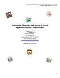 Articulation, Phonology, and Apraxia of Speech Features Co