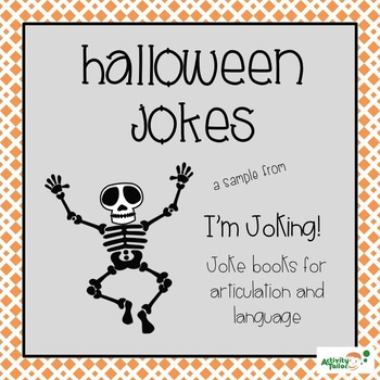 Articulation and Language Therapy Joke Books: I'm Joking! Halloween Sample