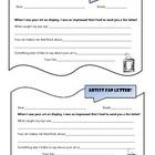 Artist Fan Letter, elementary level