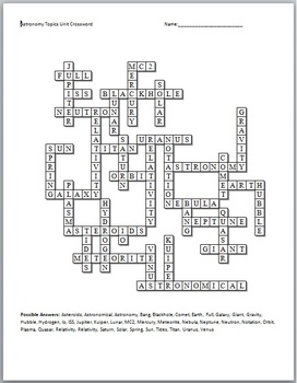 ASTRONOMY CROSSWORD PUZZLE.  sc 1 st  Pics about space & Solar System Fun Crossword (page 4) - Pics about space 25forcollege.com