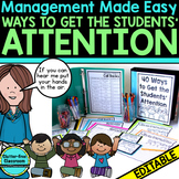 Attention Getting Strategies for Teachers - BLACKLINE DESI