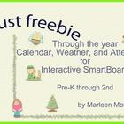 August Freebie- Through the Year Calendar Weather Attendan