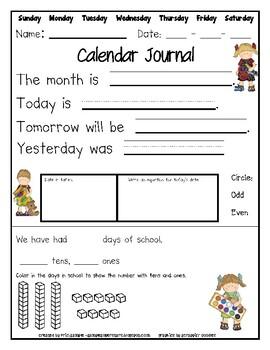 August-June Calendar Journal