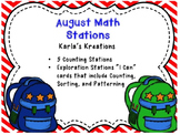 August Math Station