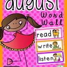 August Word Wall {FREEBIE!}