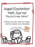 August/September Math Journal Second Grade